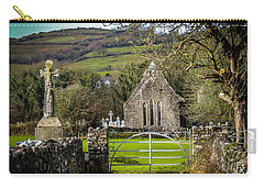 12th Century Cross And Church In Ireland Carry-all Pouch