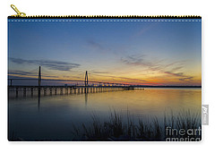 Peacefull Hues Of Orange And Yellow  Carry-all Pouch by Dale Powell