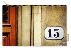 13 With Wooden Door Carry-all Pouch by Valerie Reeves