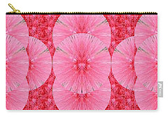 Novino Unique Signature Style Graphic Art Shades Of Sparkle Gold Textures And Flower Pattern In Betw Carry-all Pouch