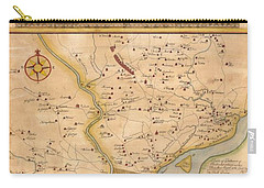 1752  Scull  Heap Map Of Philadelphia And Environs Carry-all Pouch
