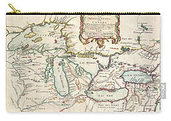 1755 Bellin Map Of The Great Lakes Carry-all Pouch
