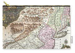 1756 Lotter Map Of Pennsylvania New Jersey And New York Carry-all Pouch