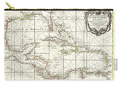 1762 Zannoni Map Of Central America And The West Indies Carry-all Pouch