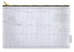 1780 Cook  Hogg Map Of Tahiti  Carry-all Pouch
