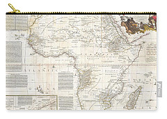 1787 Boulton  Sayer Wall Map Of Africa Carry-all Pouch