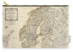 1794 Laurie And Whittle Map Of Norway Sweden Denmark And Finland Carry-all Pouch