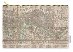 1795 Bowles Pocket Map Of London Carry-all Pouch