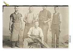 1800's Vintage Photo Of Blacksmiths Carry-all Pouch by Charles Beeler