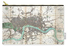 1806 Mogg Pocket Or Case Map Of London Carry-all Pouch