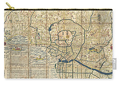 1849 Japanese Map Of Edo Or Tokyo Carry-all Pouch