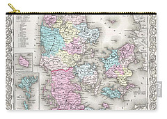 1855 Colton Map Of Denmark Carry-all Pouch
