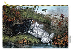1860s Two Spaniel Dogs Flushing Carry-all Pouch