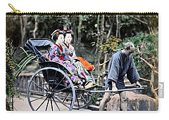 1870 Geisha Girls Traveling In Rickshaw Carry-all Pouch