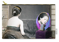 1870 Japanese Woman In Her Dressing Room Carry-all Pouch
