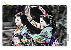 1870 Two Geisha Girls Under Umbrella Carry-all Pouch