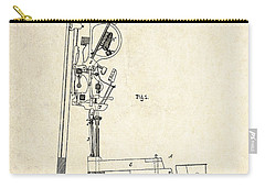 1878 Steinway Piano Forte Action Patent Art  Carry-all Pouch