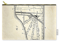 1885 Steinway Piano Frame Patent Art Carry-all Pouch