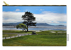 18th At Pebble Beach Panorama Carry-all Pouch by Judy Vincent