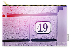 19 On Lavender Wall Carry-all Pouch by Valerie Reeves