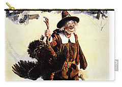 1900s Sunday Magazine Cover Silly Man Carry-all Pouch
