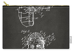 1904 Baseball Catchers Mask Patent Artwork - Gray Carry-all Pouch