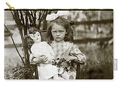 1905 Portrait Of A Cranky Girl Carry-all Pouch