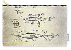 1907 Fishing Lure Patent Carry-all Pouch by Jon Neidert