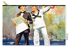1917 - United States Navy Recruiting Poster - World War One - Color Carry-all Pouch