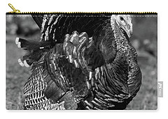 1920s 1930s Wild Turkey Displaying Carry-all Pouch