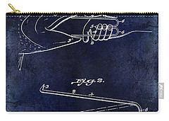 1922 Fish Mouth Opener Patent Drawing Blue Carry-all Pouch