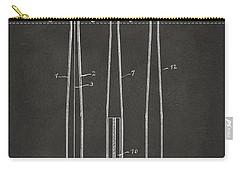 1924 Baseball Bat Patent Artwork - Gray Carry-all Pouch