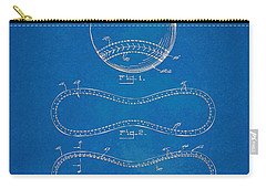Carry-all Pouch featuring the digital art 1928 Baseball Patent Artwork - Blueprint by Nikki Smith