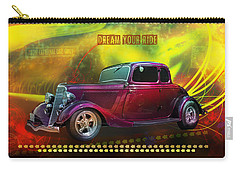 Carry-all Pouch featuring the digital art 1934 Ford 5 Window Gennie by Richard Farrington