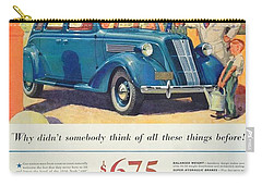 1936 - Nash Sedan Automobile Advertisement - Color Carry-all Pouch