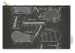 Carry-all Pouch featuring the digital art 1936 Golf Club Patent Artwork - Gray by Nikki Marie Smith