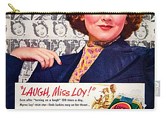 1938 - Lucky Strike Cigarettes Advertising - Myrna Loy - Color Carry-all Pouch