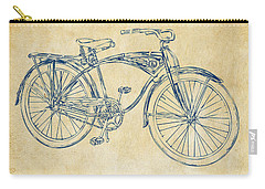 1939 Schwinn Bicycle Patent Artwork Vintage Carry-all Pouch by Nikki Marie Smith