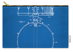 1939 Snare Drum Patent Blueprint Carry-all Pouch by Nikki Marie Smith