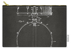 1939 Snare Drum Patent Gray Carry-all Pouch by Nikki Marie Smith