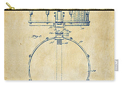 1939 Snare Drum Patent Vintage Carry-all Pouch by Nikki Marie Smith
