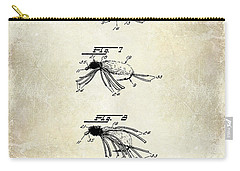 1940 Artificial Fish Bait Patent Drawing Carry-all Pouch