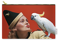 1940s Glamorous Blond Woman Talking Carry-all Pouch