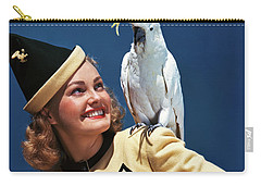 1940s Smiling Blond Woman Looking Carry-all Pouch
