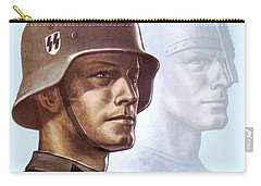1943 - German Waffen Ss Recruitment Poster - Norway - Color Carry-all Pouch