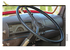 Carry-all Pouch featuring the photograph 1946 Chevy Dash by E Faithe Lester