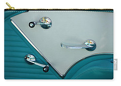 Carry-all Pouch featuring the photograph 1950's Chevy Interior by Dean Ferreira