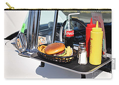 1950's Drive In Movie Snack Tray Carry-all Pouch by John Telfer