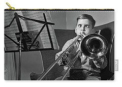 1950s Funny Cross-eyed Boy Playing Carry-all Pouch