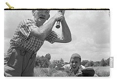 1950s Grandfather At Bat With Grandson Carry-all Pouch